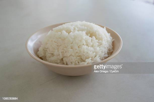 Close-Up Of Rice Served In Bowl