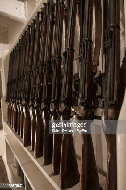 close-up of riffles on rack - eyeem collection stock pictures, royalty-free photos & images