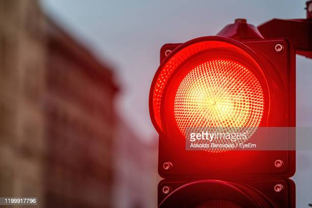 close-up of road signal - red light stock pictures, royalty-free photos & images