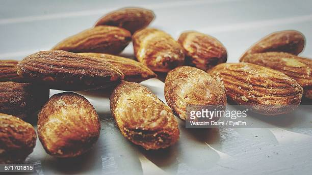 Close-Up Of Roasted Almonds