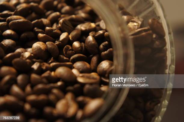 Close-Up Of Roasted Coffee Beans In Jar