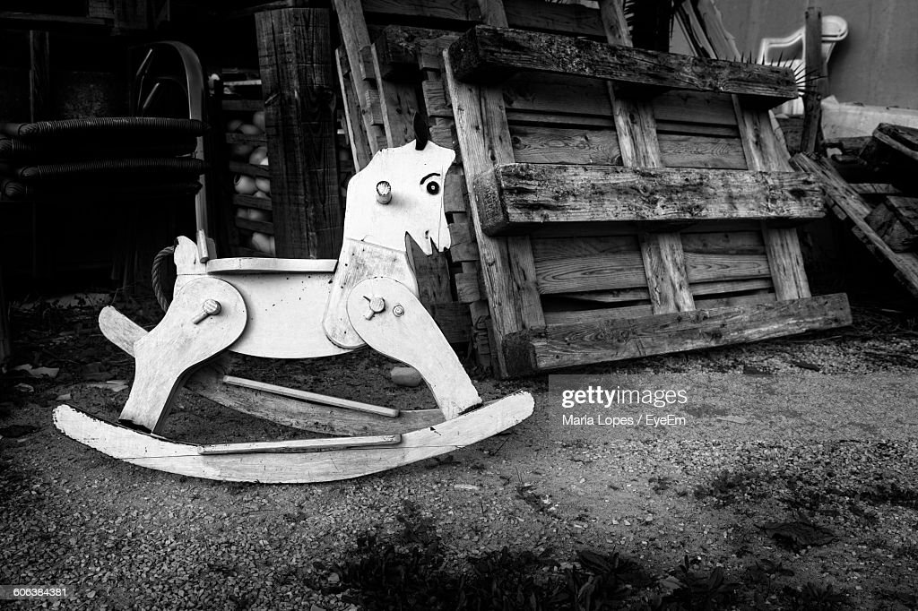 Closeup Of Rocking Horse On Field High Res Stock Photo Getty Images