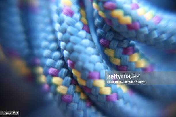 close-up of rope - nylon stock photos and pictures
