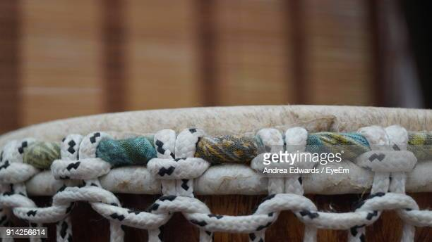 Close-Up Of Rope Tied On Musical Instrument