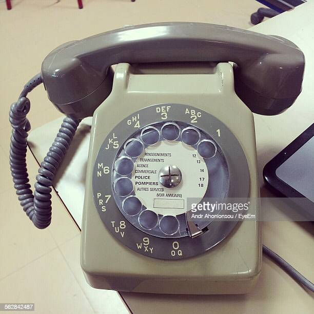 Close-Up Of Rotary Phone