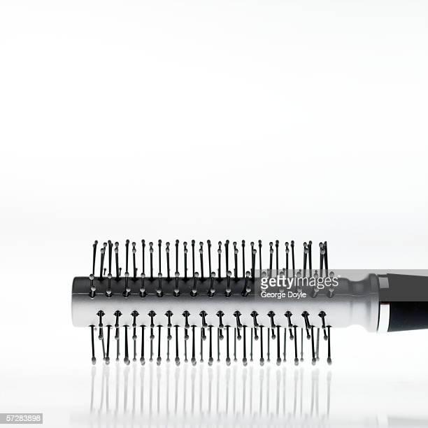 Close-up of round hairbrush
