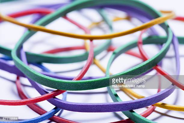 Close-up of rubber bands