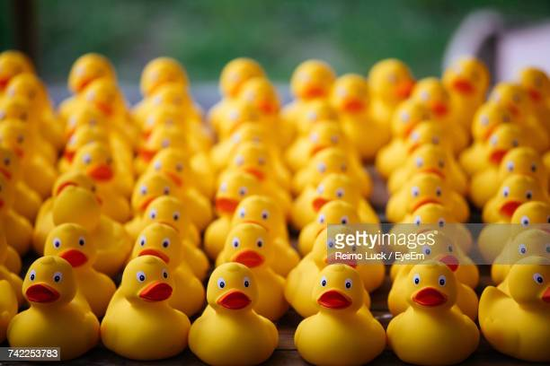 Close-Up Of Rubber Ducks