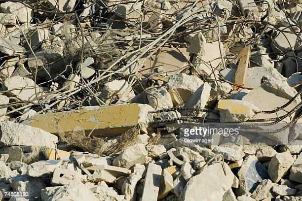 close-up of rubble - rubble stock photos and pictures