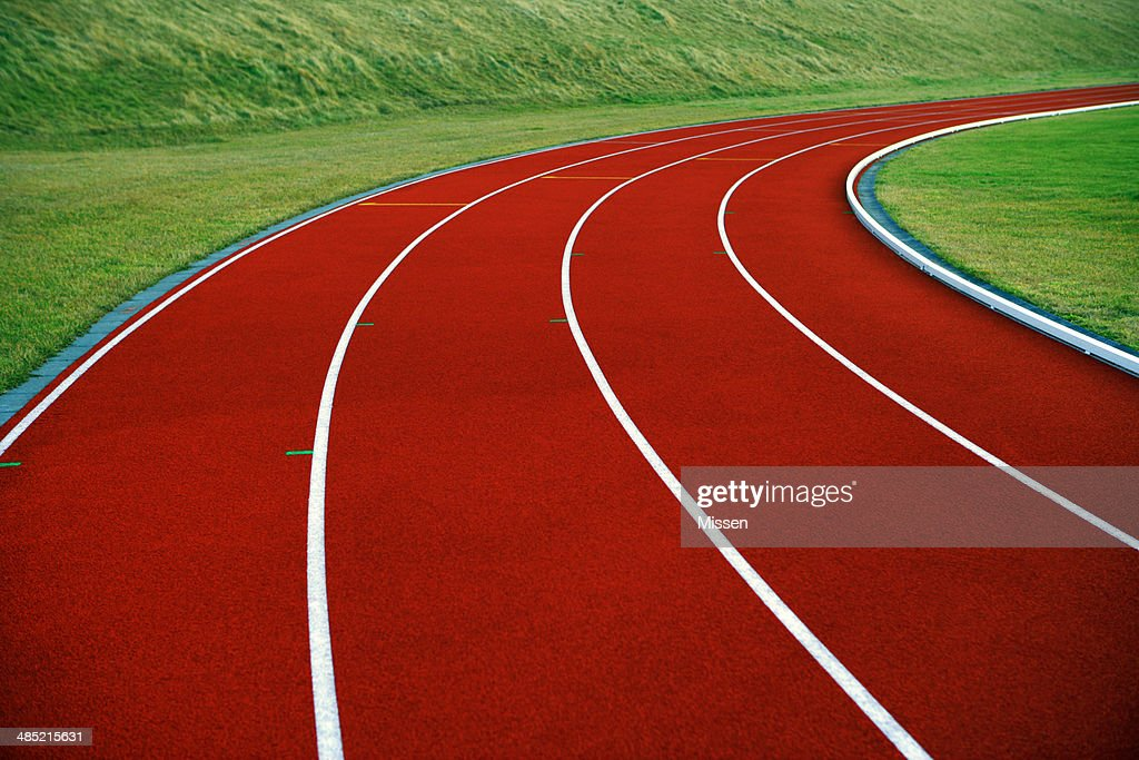Close-up of running track : Stock Photo