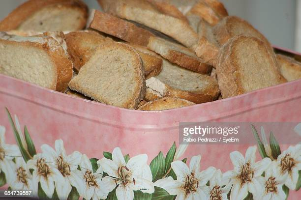 Close-Up Of Rusks In Container