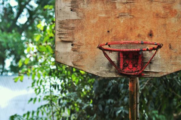 Close-Up Of Rusty Basketball Hoop