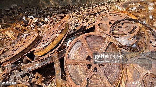 close-up of rusty camera film - regression film stock pictures, royalty-free photos & images