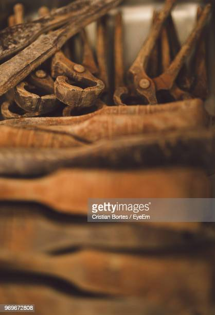 close-up of rusty hand tools - bortes stock pictures, royalty-free photos & images
