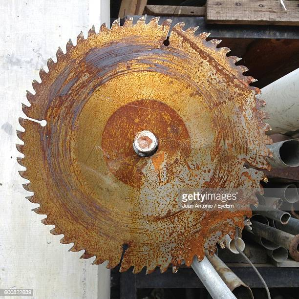 close-up of rusty saw - circular saw stock photos and pictures