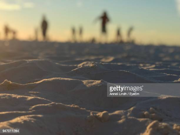 close-up of sand against sky during sunset - siesta key stock pictures, royalty-free photos & images