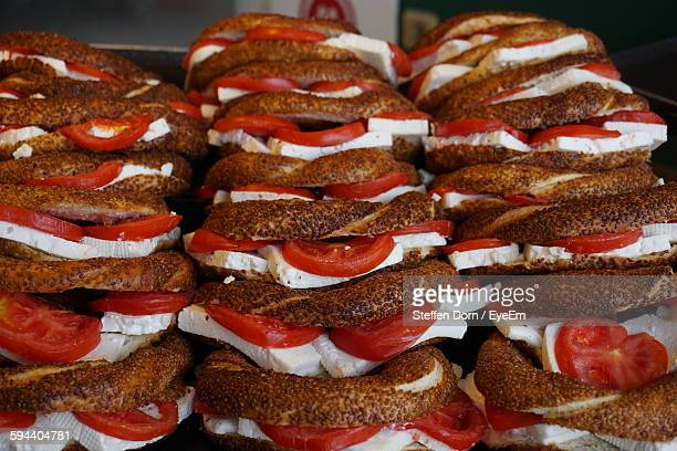 Close-Up Of Sandwiches Stack
