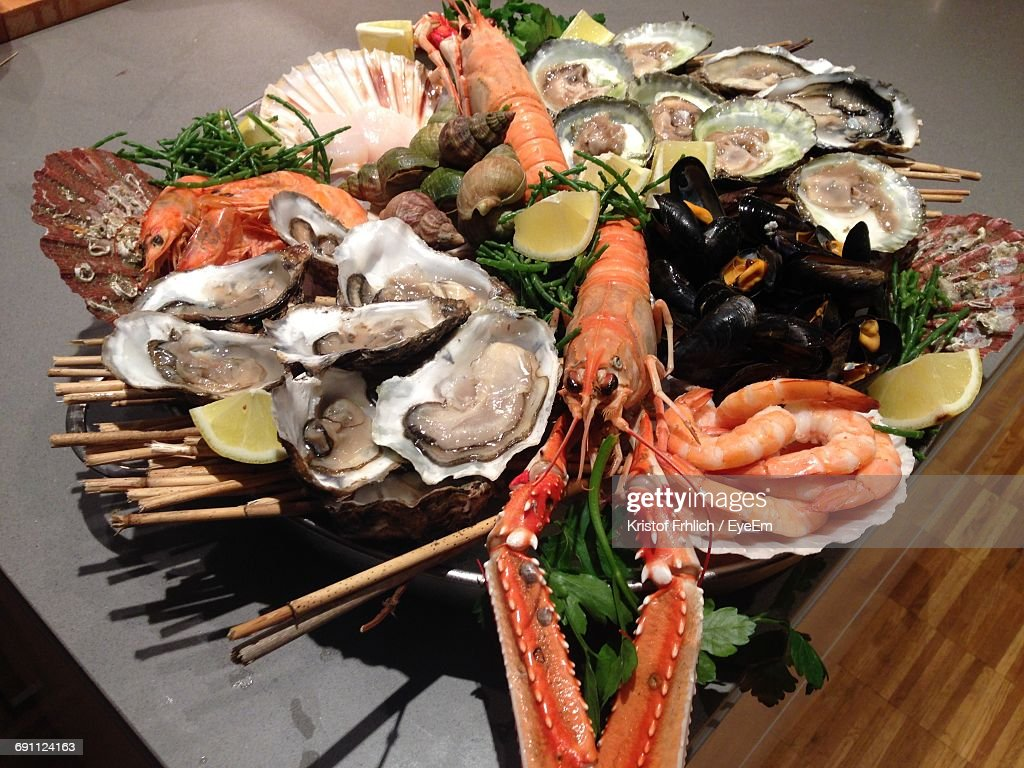 Close-Up Of Seafood : Stock Photo