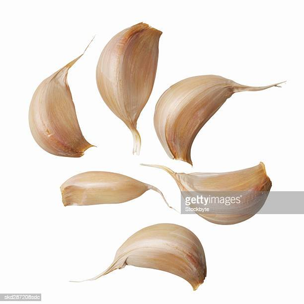Close-up of segments of a clove garlic