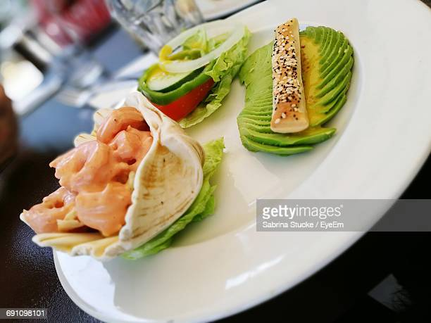 Close-Up Of Served Food On Plate