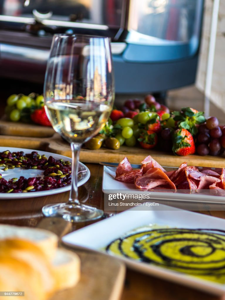 Close-Up Of Served Food On Table : Stock Photo
