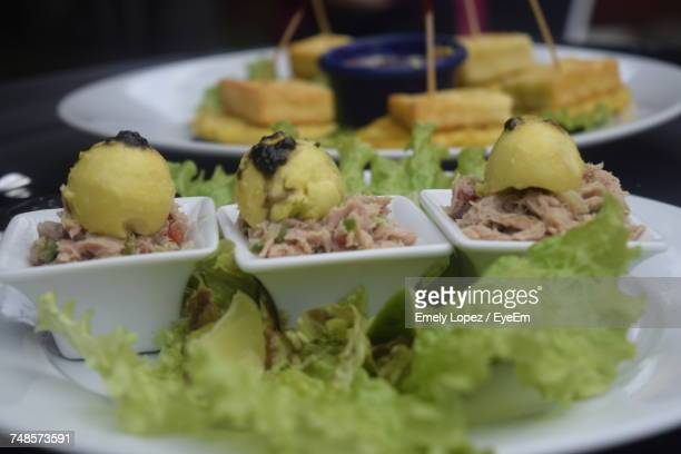 Close-Up Of Served Food