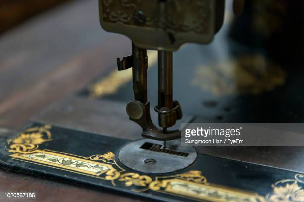 close-up of sewing machine - sewing machine stock pictures, royalty-free photos & images
