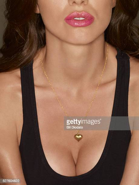 close-up of sexy woman - cleavage close up stock photos and pictures