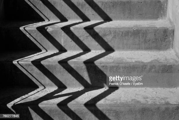Close-Up Of Shadow On Steps