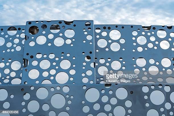 Closeup of 'Shipyard works Stern and Holes' by Otake Shinro Naoshima Japan