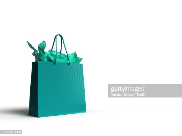 close-up of shopping bag on white background - plain background stock pictures, royalty-free photos & images
