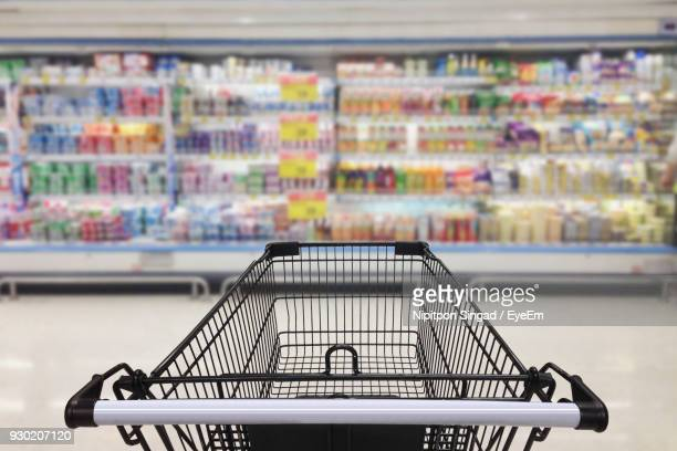 close-up of shopping cart at mall - shopping cart stock pictures, royalty-free photos & images