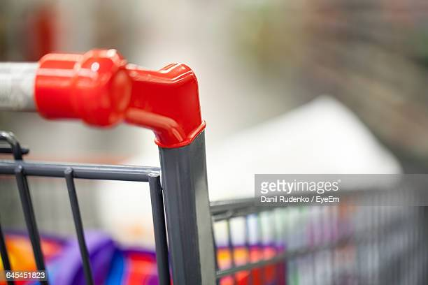 Close-Up Of Shopping Cart Handle