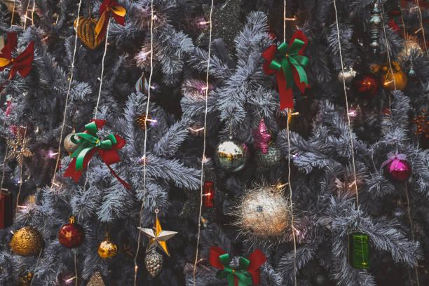 Close-Up of Shot of Illuminated Christmas Decoration on Christmas Tree
