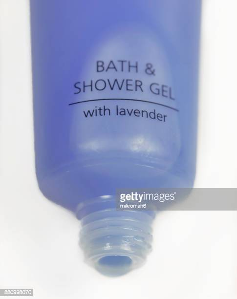 Close-up of shower gel