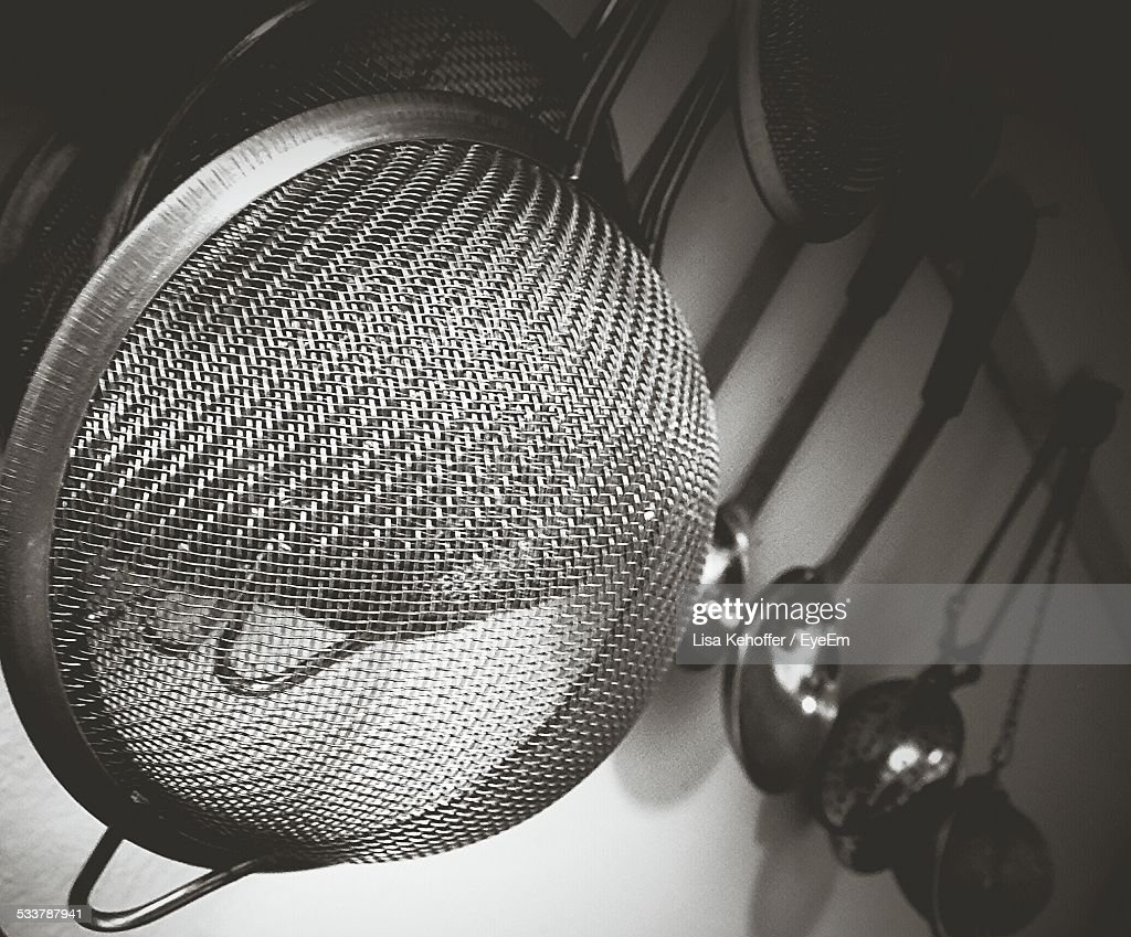 Close-Up Of Sieve : Foto stock
