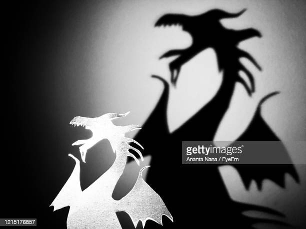 close-up of silhouette animal representation on paper - puppet maker stock pictures, royalty-free photos & images