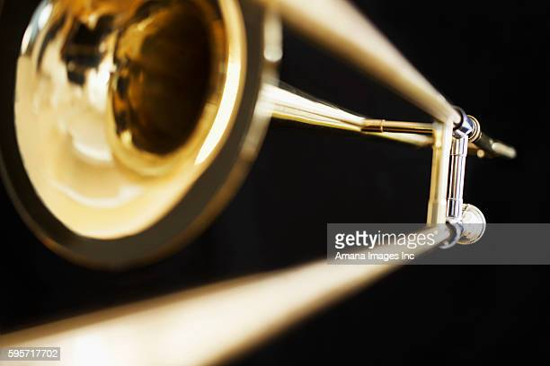 Close-Up of Single Trombone