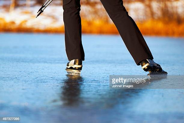 Close-up of skater skating