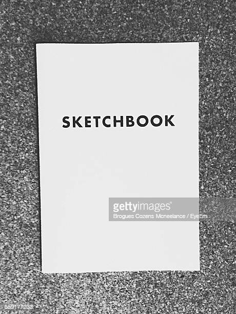Close-Up Of Sketch Pad