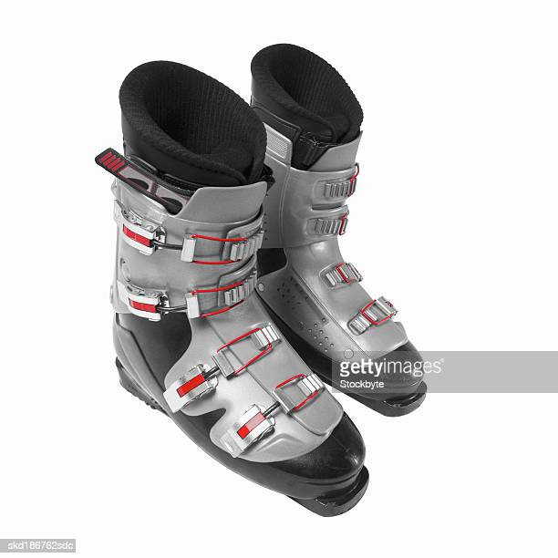 Close-up of ski boots