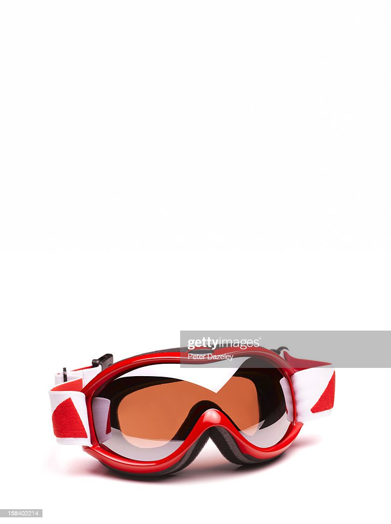 Close-up of ski goggles : Stock Photo