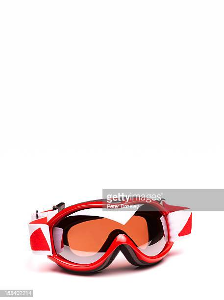 Close-up of ski goggles