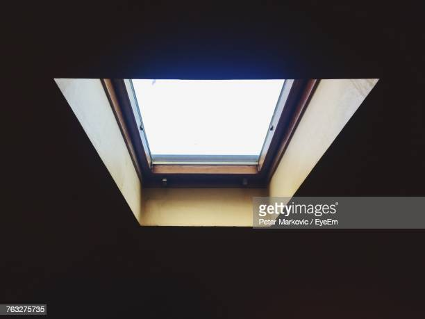 Close-Up Of Skylight In Darkroom