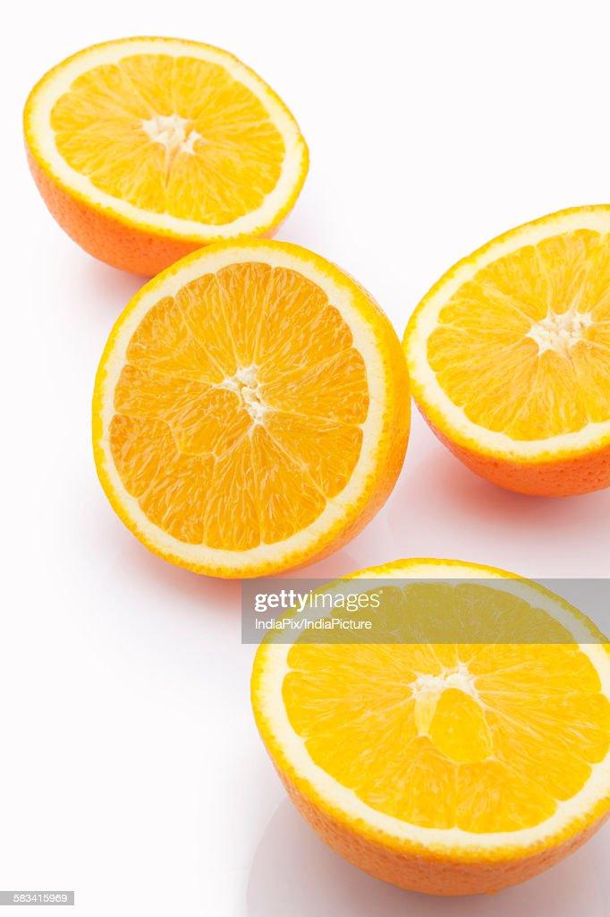 Close-up of sliced oranges : Stock Photo