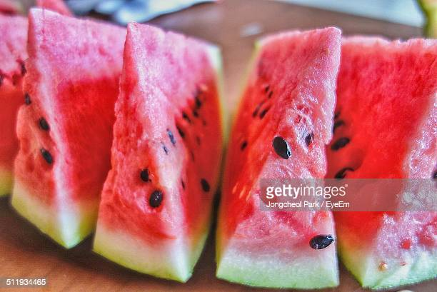Close-up of sliced watermelon