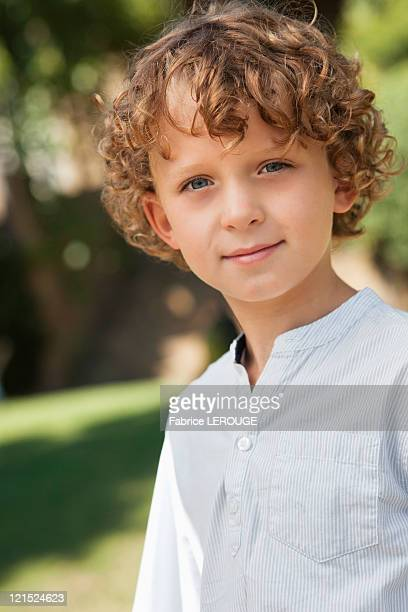 Close-up of smiling boy