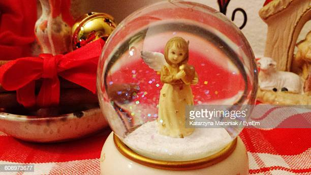 Close-Up Of Snow Globe On Table