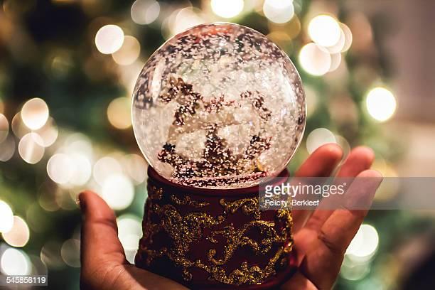 Close-up of snow globe