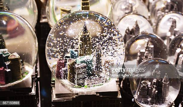 Close-Up Of Snow Globes